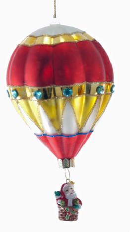 Glass Hot Air Balloon Ornament