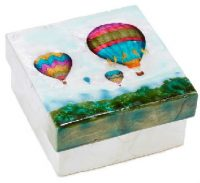 Capiz Shell Hot Air Balloon Trinket Box