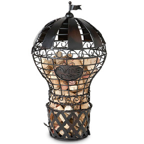 Hot Air Balloon Wine Cork Cage