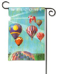 Hot Air Balloon Garden Flag