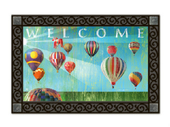 Hot Air Balloon Door Mat