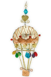 Hot Air Balloon Christmas Ornament