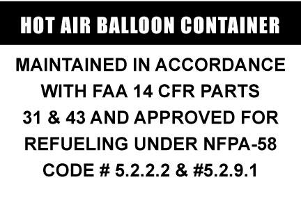 Hot Air Balloon Refueling Sticker