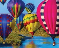 Up In Flight Hot Air Balloon Puzzle