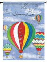 "Hot Air Balloon Garden Flag – ""Journey On"""