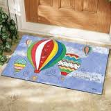 Hot Air Balloon Journey Door Mat